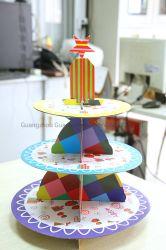 تصميم أنيق بالجملة تخصيص ملون 3 من عيد ميلاد الزفاف كعكة قف