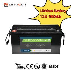 بطاريات ليثيوم أيون بجهد 12 فولت وقدرة 48 فولت وقدرة 100 أمبير/ساعة و150 أمبير/ساعة و300 أمبير/ساعة حزمة بطارية LFePO4 Lithium Iron فوسفات الطاقة الشمسية القابلة لإعادة الشحن مع Bluetooth®