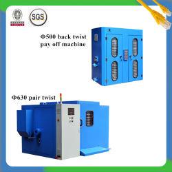 Zh-630 Pitch électronique paire machine + double tête de torsion Type Vertical Back-Twist payer-off Groupe de la machine pour câble métallique