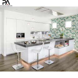 Moderna isla australiana de MDF lacadas armarios de cocina
