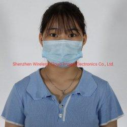 Het beschikbare Beschermende Masker van het Gezicht van het Ademhalingsapparaat van het AntiStof Facemask Gezichts3ply