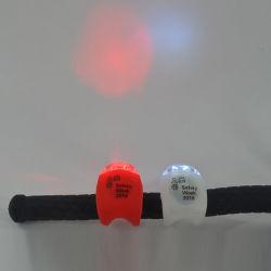 カスタマイズされたロゴの昇進のバイクのアクセサリ2パックの小型シリコーンのバイクライト、安全前部LED自転車ライト、道のサイクルランプ