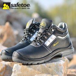 Safetoe Cow Suede 가죽 작업안전화 제조업체 강철 토, CE S1p 정전기 방지 및 오일 방지 안전화 산업 두바이 가격 남성용 및 여성용 신발