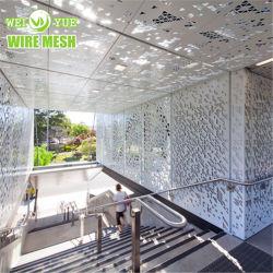 Las puertas de metal perforado de decoración de jardín que se utiliza para el hogar Jardín valla metálica puertas