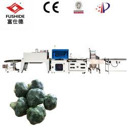 Brócolos/Produtos hortícolas Automatic L-Bar Vedante Verificar Weighter POF shrink wrapping Linha da Máquina