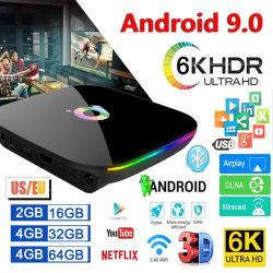 Android 9.0 TV Box Q Plus 4 GB 64 GB 32 GB Smart TV Box Allwinner H6 Quad Core 6K H. 265 2,4 GHz WiFi Android 9 Set Top Box 2 GB 16 GB