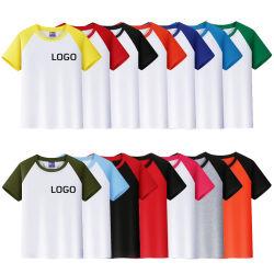 Manches courtes Logo personnalisable T-Shirt pour hommes et femmes d'imprimer le raccord en T