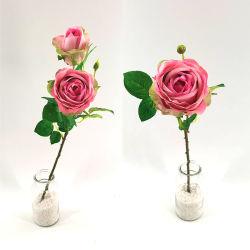 웨딩 장식 인공 꽃 실물 3D 실크 장미 꽃 홈 장식