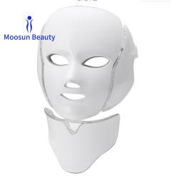 Feu de photons coloré la peau du visage thérapie de beauté masque facial à LED 7 couleurs