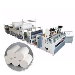 Altas velocidades automática de rolo de papel higiénico rebobinando a máquina