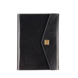 La Chine fournisseur Bureau de l'École de la Papeterie de luxe Gift Set Gold l'Estampage du cuir et un stylo ensemble cadeau pour ordinateur portable