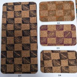 Nova impressão de Cortiça Natural Real PU para sacos de calçado de couro decoração (HS20-2)