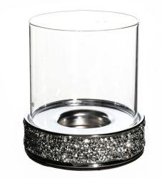 Portacendicamella a diamante hot-selling, regalo ideale per matrimoni, portacendamella in vetro di Natale