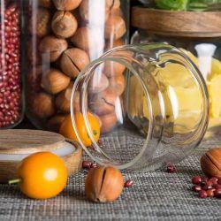 سعر مورد المصنع يحافظ على الغذاء الزجاج تخزين الدورق و زجاجة مع غطاء محكم من الخيزران