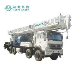 El HFC600 montada en camión de plataforma de perforación, para promover el trinquete giratorio