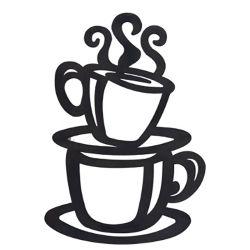 금속 가정 훈장을%s 김이 나는 커피 잔 다방 부엌 벽 예술