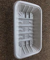 투명 흰색 플라스틱 블리스터 식품 포장 트레이 일회용 냉동 식품 식사 트레이