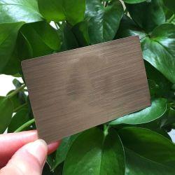 De forma personalizada de fábrica de cartão de visita de Metal