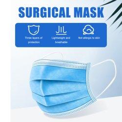 Médicos desechables mascarilla quirúrgica Non-Woven Fábrica del fabricante de 3 capas de tejido con mascarilla quirúrgica