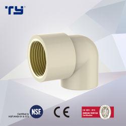 Subproceso de CPVC Mujeres Codo con la norma DIN PN16 accesorios para tuberías de presión de suministro de agua