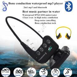수영을%s 새로운 H-905MB Ipx8 16GB MP3 Bluetooth 방수 뼈 유도 헤드폰