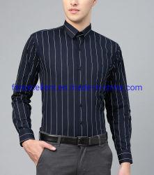 قميص رجال أزرق وأبيض مقشم أزرق وأبيض قمصان رسمية رجل