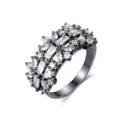 Zircon cubique plaqué or Bijoux de mode de sonnerie Sonnerie de doigt