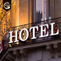 Factory Outlet Free Design extérieur LED 3D signer des lettres de l'hôtel logo rétroéclairé Alphabet en acier inoxydable-0411 Petite boîte en métal
