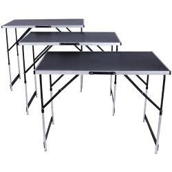 Verstelbare inklapbare werktafel in aluminium voor achtergrond 300 X 60 cm Opvouwbare camper Camping Picknic Table SL-Wt009