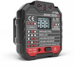 Ht105 Nouveau produit GFCI Testeur de prise électrique murale Testeur de socket