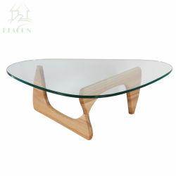 De Basis van het Eiken Hout van Noguchi van de ontwerper, de Hoogste Koffietafel van het Glas