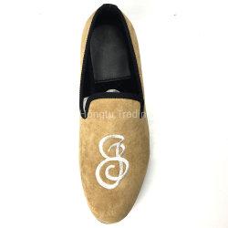 L'automne élégant Slip-on fait sur mesure Hommes chaussures brodé trotteurs
