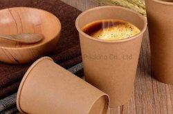 Papier Kraft jetables pour le café chaud aliments contenant des boissons chaudes