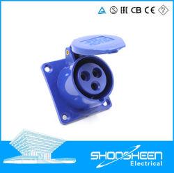 IP67 de CEE de 16 a 32 A 63 2p de alta gama eléctrica IEC tipo acoplador Ocultar Direct Ocultar inclinado 5 Amp. Fase de toma de enchufe Industrial