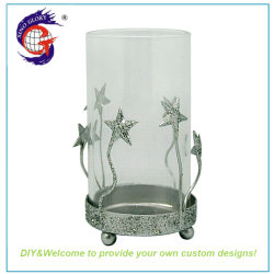 Kleinglas-Kleinglas-Menorah Kerzenhalter Für Großhandel