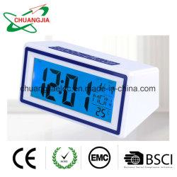 Digital pequeño Reloj Despertador de viaje con el Control de voz de temperatura de retroiluminación