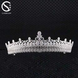 Высокое качество обедненной смеси Crystal свадьбы Tiaras волос украшения для невест