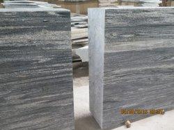 Grünes Lanscape und grauer Granit-natürliche Steinziegelsteine