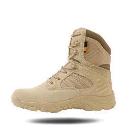 De kaki Laarzen Mens van de Laarzen van de Wandeling van de Kleur Comfortabele Militaire Tactische