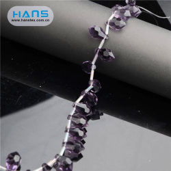 ハンズODM/OEMデザインなめらかなビーズの水晶網のアップリケ