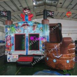 5x4m novo navio pirata inflável castelo insuflável, crianças navio pirata inflável Bouncer House Slide Combo