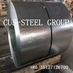 Spangle ordinaire chaud en acier galvanisé recouvert de zinc DIP feuille/acier galvanisé à chaud de la bobine de feux de croisement