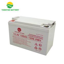 اليانغتسى 12 فولت بطارية ليثيوم أيون ذات دورة عميقة 100 أمبير، مووتر كهربائي، بنك طاقة تخزين فوسفات فوسفات