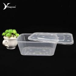 Utensílios descartáveis Tira de microondas de plástico de embalagem de alimentos com tampa