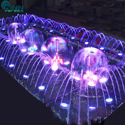 La lumière de couleurs de LED Boule de cristal de pissenlit Caractéristiques de l'eau de la fontaine de jardin