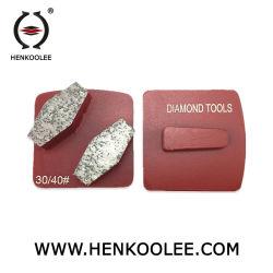 Трапецеидальный магнитного пол алмазов шлифовальные пластину с помощью двух сегментов