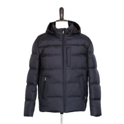 Luz acolchoados simples populares Fake estabelece Padding homens casaco exterior de Inverno da moda roupas casuais casaco capuz cor sólida