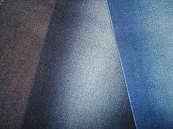 Хлопок полиэстер Stretch Саржа джинсовой ткани Синий индиго