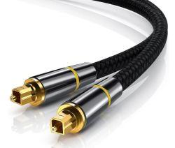 Câble audio fibre optique Toslink, mâle à mâle