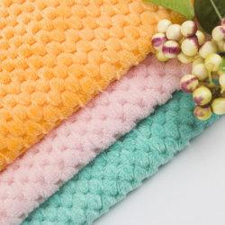 Jacquard Ananas Raster Plüsch Weich Einfarbig Flanell Fleece Stoff Koralle Fleece-Stoff für Decke Winter Mantel Pyjama 100% Polyester Shu-Gewebe Aus Samtstoff